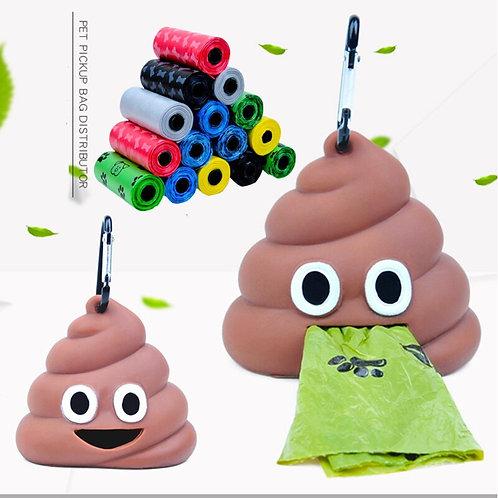 Novelty Poop Emoji Poo Bag Holders