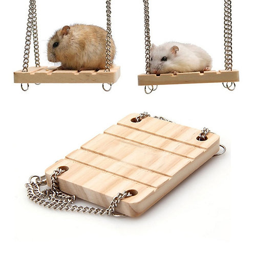 Wooden Swing Ledge for Birds and Rodents