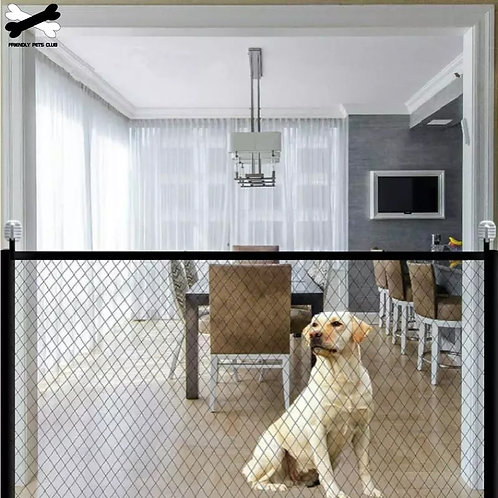 Portable Folding Mesh Fence for Dog Safety