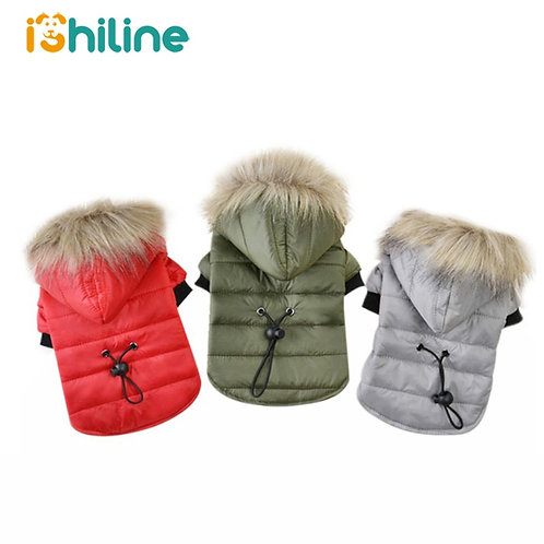 Faux Fur Trimmed Parka For Dogs