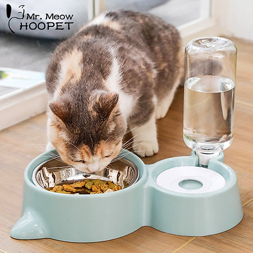 Food Bowl With Drip Fed Water Dish