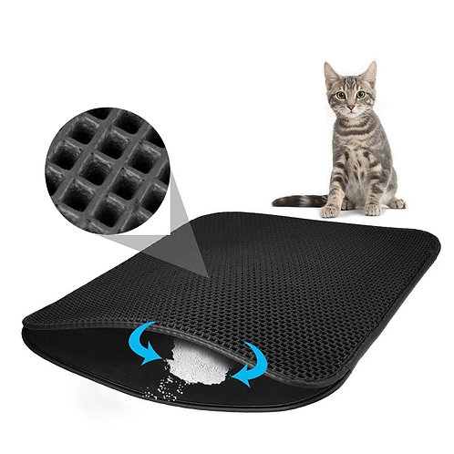 Cat Litter Catching Mat, Removes Fallout and Scatter from Litter Trays