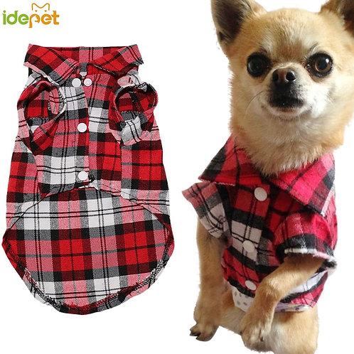 Cute Lumberjack Cotton Shirt for Dogs