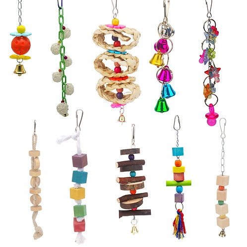 Hanging Toys for Breaking Boredom for Birds and Rodents