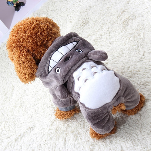 Cozy Totoro Onsie For Small Dogs