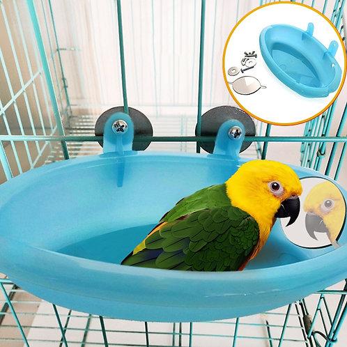 Aviary Birdbath with Mirror