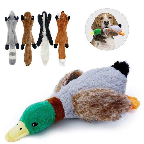 Wild Prey Stuffed Chew Toy - Duck, Fox, Skunk, Squirrel, Raccoon