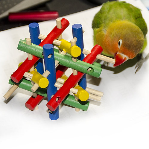 Colourful Wooden Toy for Birds, Rodents, Rabbits, and Guinea Pigs