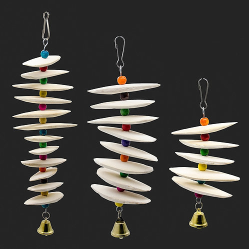 Hanging Cuttlefish Bone Mobile For Birds and Rodents