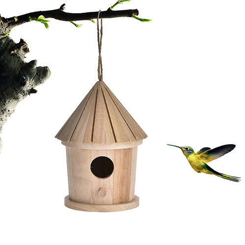 Hanging Wooden Bird House