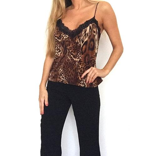 Blusa Lace Blonde Leopard