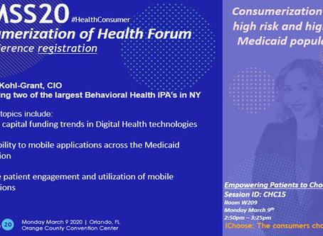 HIMSS20: Consumerization of Health Forum - Pre-Registration
