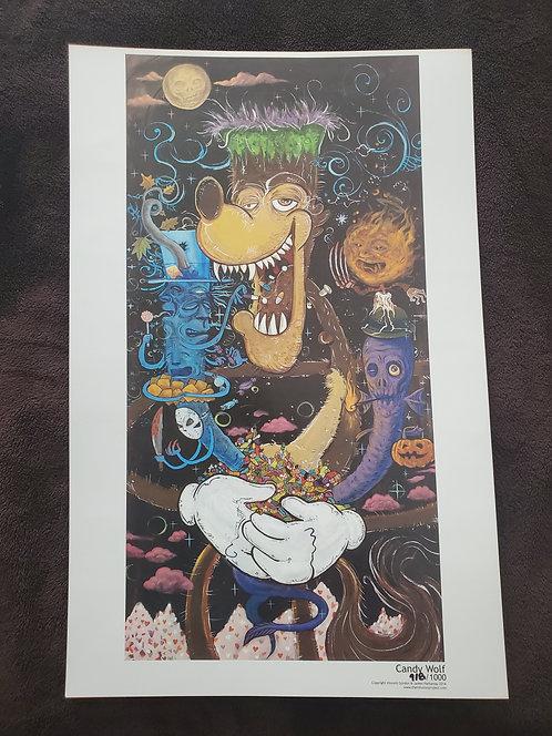 Vincent Gordon - Candy Wolf Print