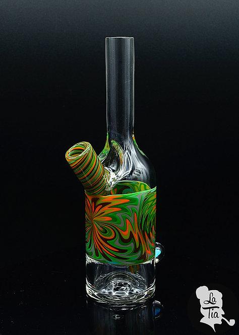 The Glass Mechanic - Linework Saki Bottle #3