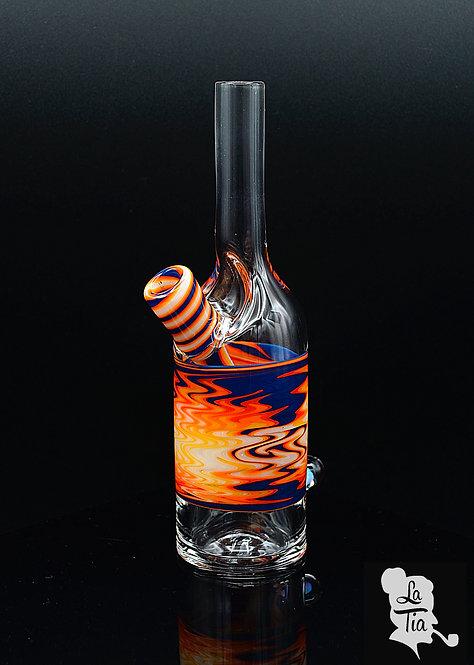 The Glass Mechanic - Linework Saki Bottle #4