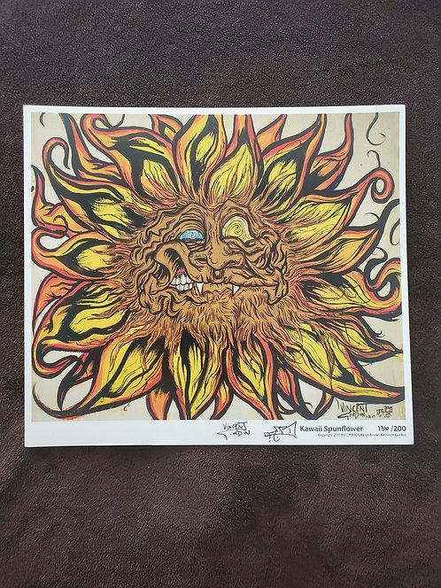 Vincent Gordon x Arron Brooks - Kawaii Spunflower Print