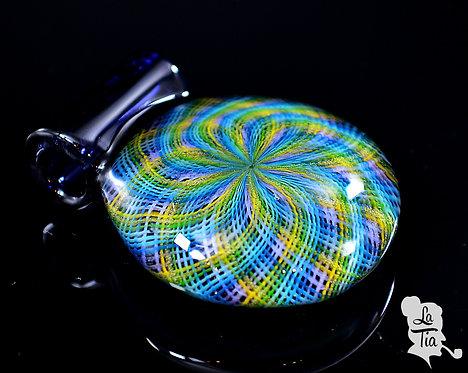 Jekyl Glass - 232 Line Retticello Pendant #2