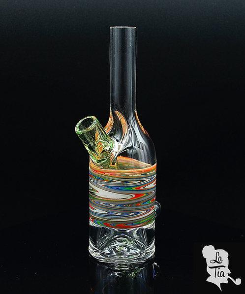 The Glass Mechanic - Linework Saki Bottle #10