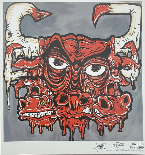 Vincent Gordon x Arron Brooks - Da Bulls Print