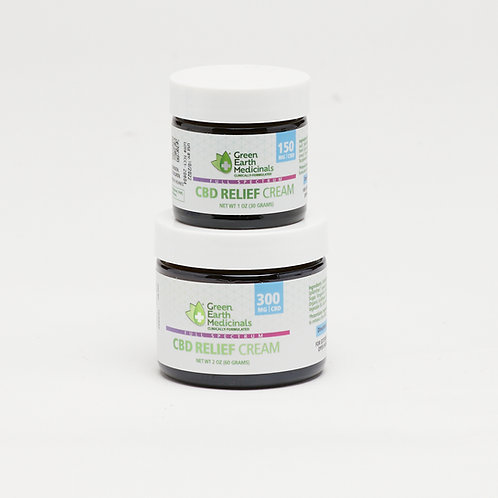 Relief Cream by Green Earth Medicinals Size 2 oz (300mg of CBD)