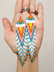 Serena Kwey's Beaded Earrings - Serena K