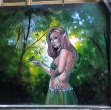 Shine in Forest Mural