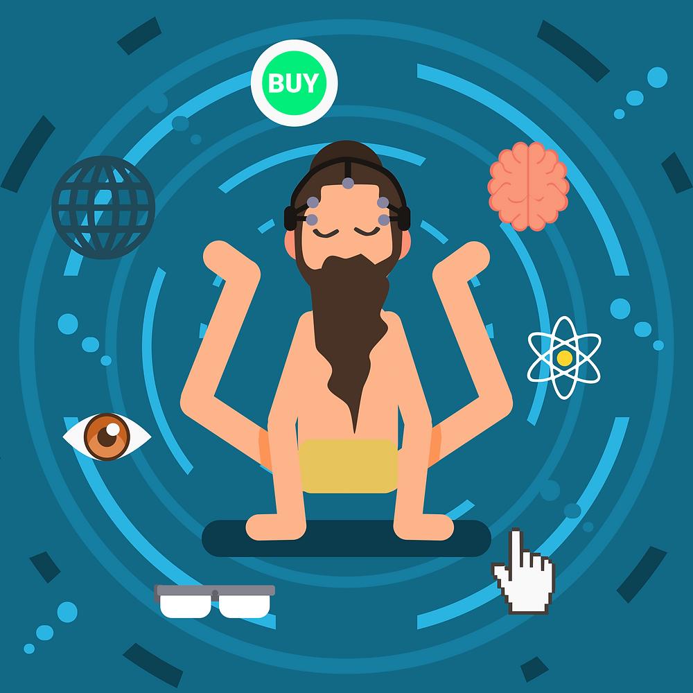 Marketing Guru / Neuromarketing Guru Vector Art