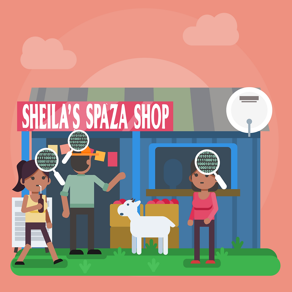 South African Spaza Shop Vector Art