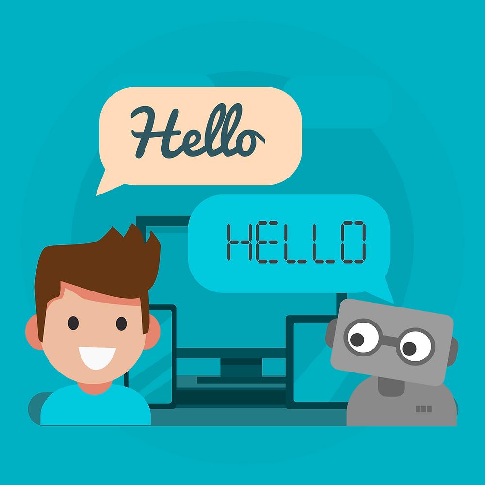 Chatbot Vector Art
