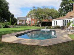 After: Techo-Bloc pavers and coping