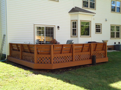 Before: Old wooden deck