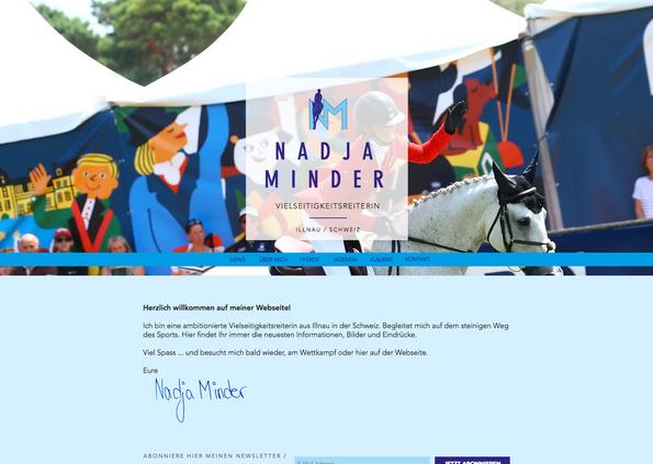 Vielseitigkeitsreiterin Nadja Minder