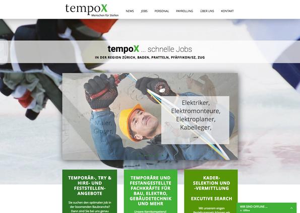 tempoX Stellenvermittlung