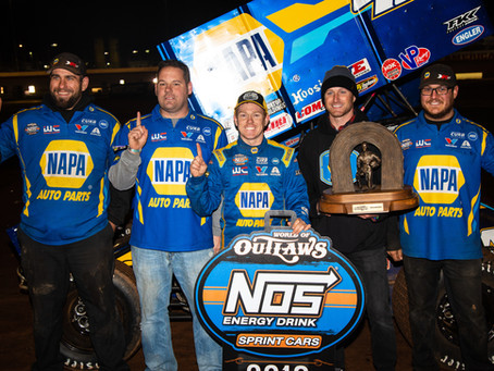 Brad Sweet Wins 2019 World of Outlaws Sprint Car Series Championship