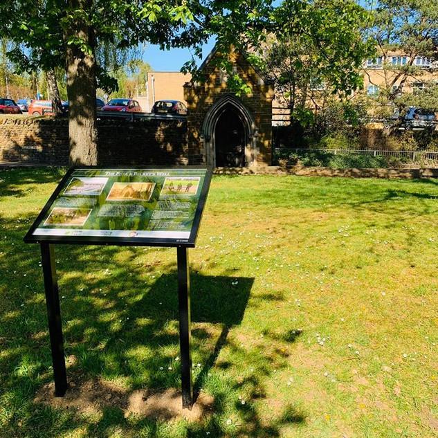 Interpretation board - Beckets Well