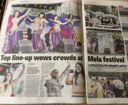 Mela article in the Chronicle and Echo