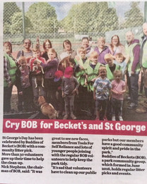 Litter picking article in the Chronicle and Echo