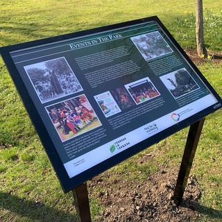 Interpretation board - Events in the park