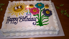 BOB'S first birthday