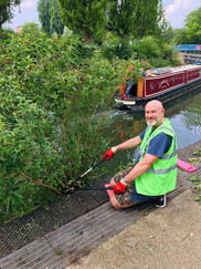 Clearing river weeds