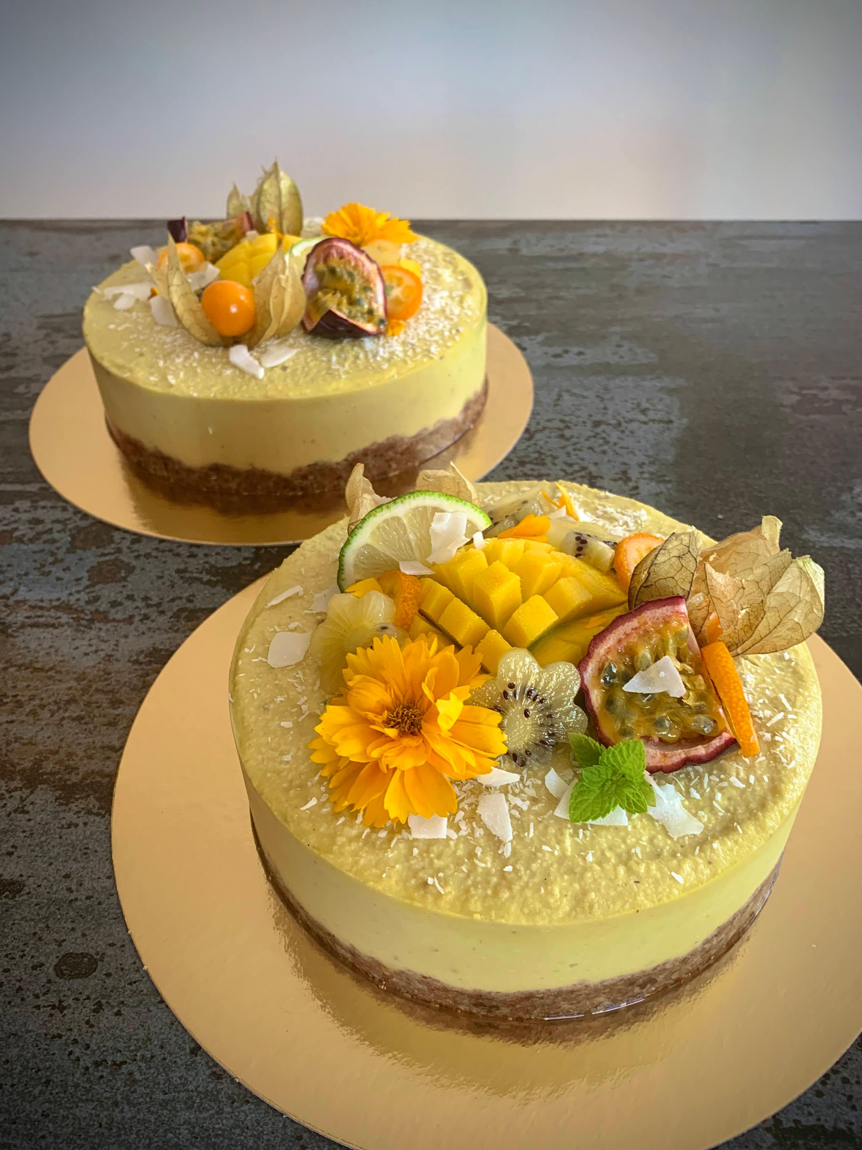 """""""Cheesecake"""" vegan à la mangue"""
