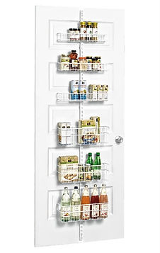 Elfa utility pantry & door wall rack