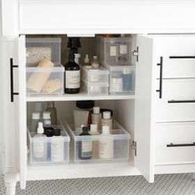 Clear Stackable Plastic Storage Bins