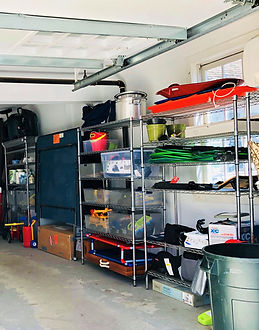 Organized Garage with Shelving