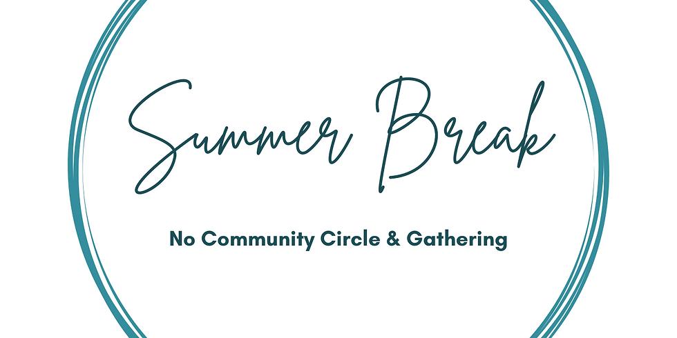 NO  COMMUNITY PROGRAM: SUMMER BREAK