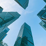 long-angle-view-of-high-rise-glass-build