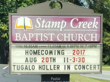 Homecoming at Stamp Creek Baptist Church