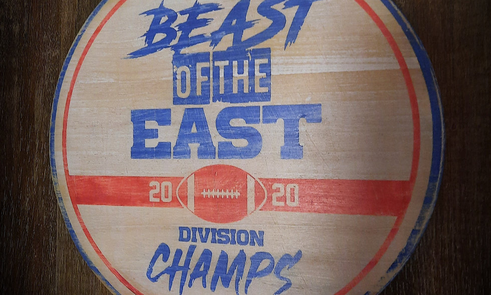 """Beast Of The East """"Division Champs"""" 12in round"""
