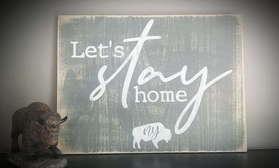 """""""Let's Stay Home"""" in Buffalo 12x16"""