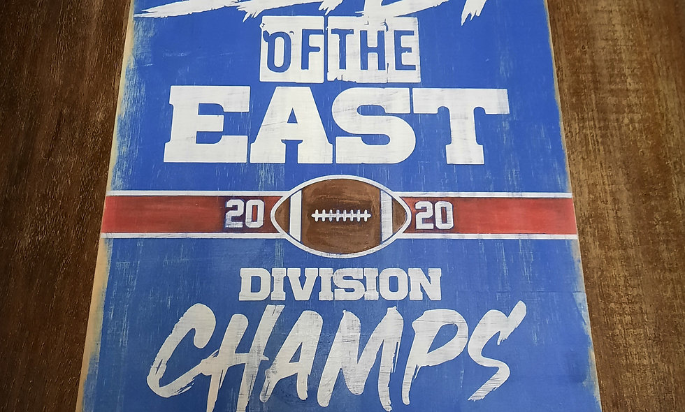 """Beast Of The East """"Division Champs"""" 12x16"""